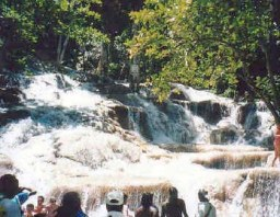 Dunns River Falls at Ocho Rios.
