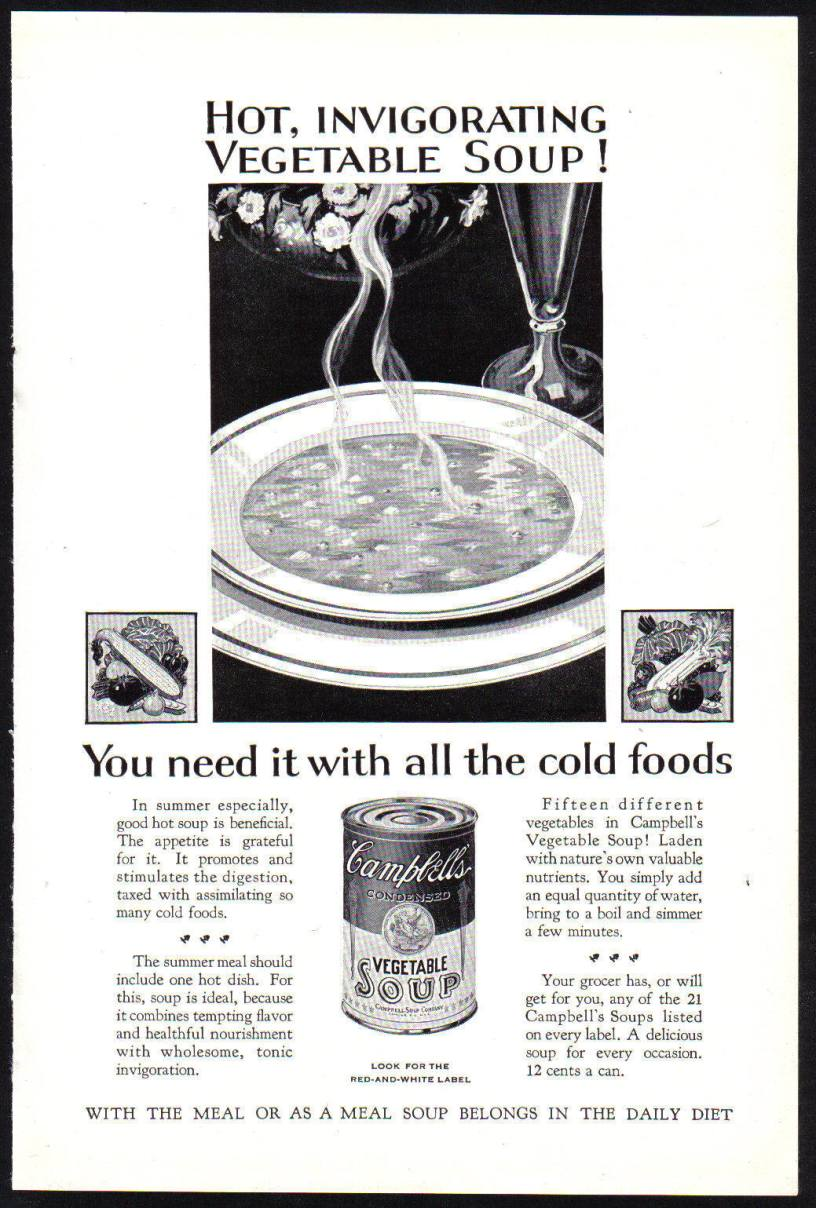Cambell's Soup advert c1928