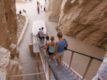 Descending from Thutmosis III tomb, West Bank, Luxor