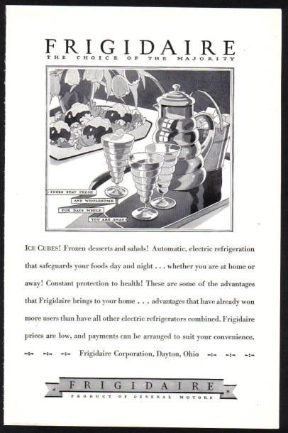Frigidaire advert c1928