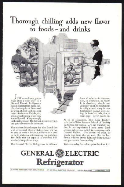 General Electric refrigerator c1928