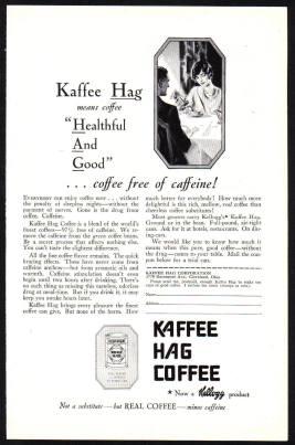 Kaffee Hag advert c1928