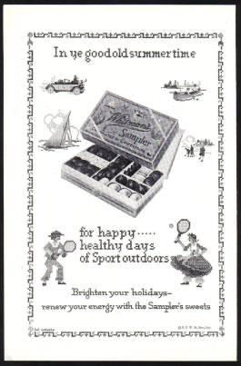 Sampler's Sweets advert c1928