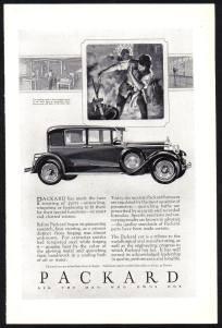 Packard Car advert c1928