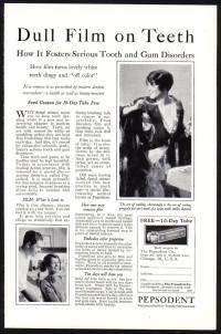 Pepsodent Teeth Whitening advert c1928