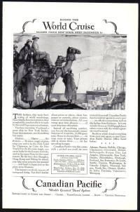 Canadian Pacific World Cruise from New York advert c1928 (Departing 1st December 1928)