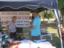 Rescued dogs to Germany charity stall