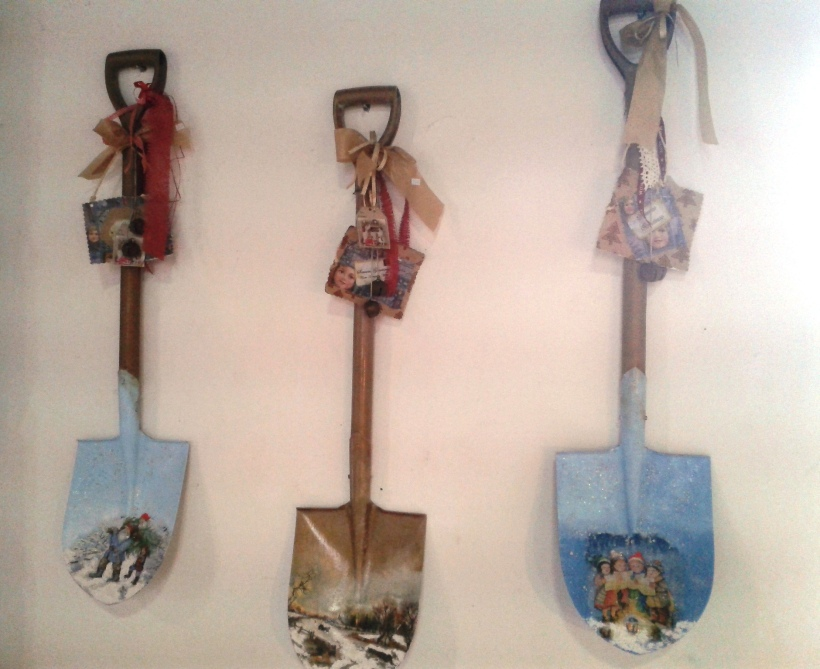 Decorated shovels