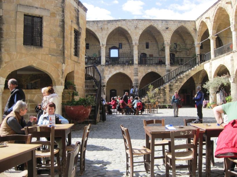 Inside the Buyuk Han, Nicosia