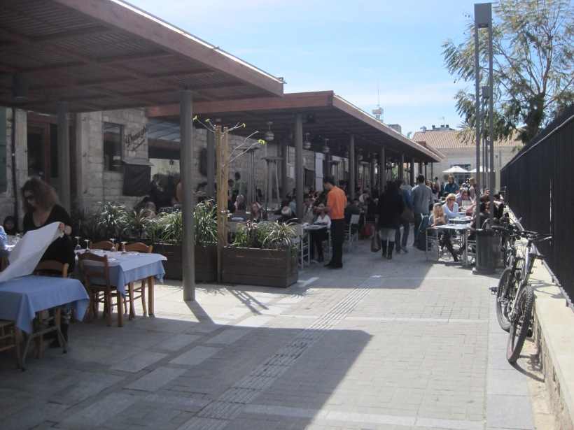 Pavement cafes & restaurants by Lanitis Carob museum