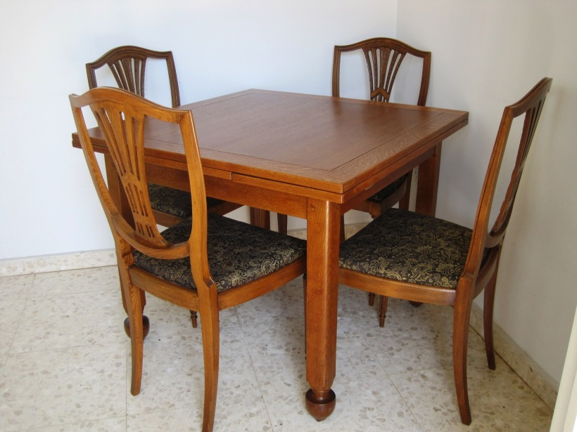 antique wooden table, antique wooden chairs, furniture restoration Cyprus, Cyprus Antiques Shop