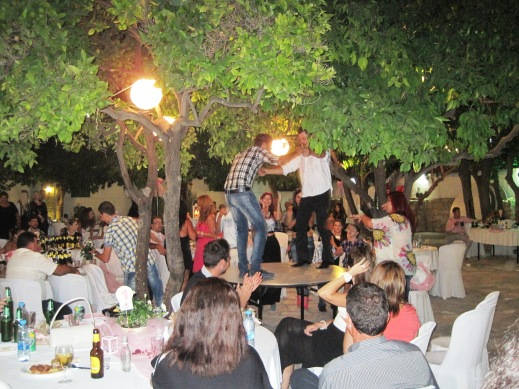 In Cyprus, they dance on the tables.