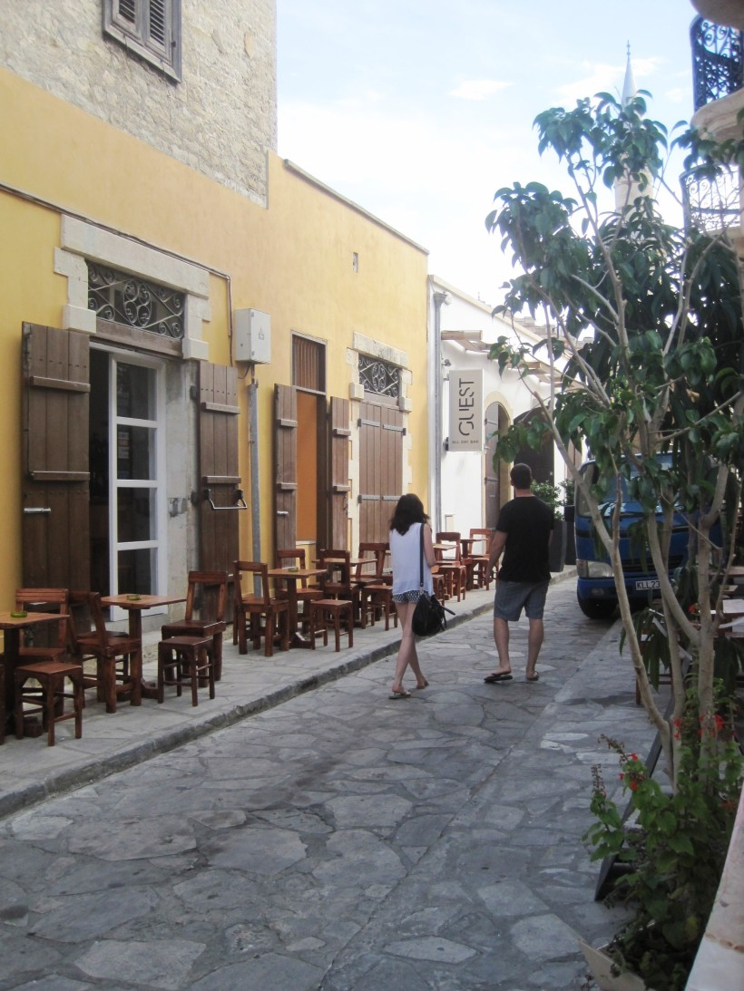 Tom and Lizi in Limassol old town