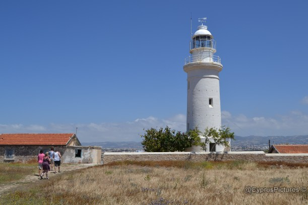 Lighthouse at Paphos archaeological park by the harbour